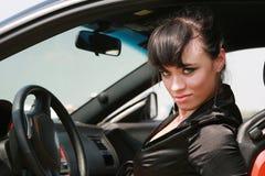 Menina no carro Fotos de Stock Royalty Free