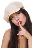 Menina no chapéu fotografia de stock royalty free