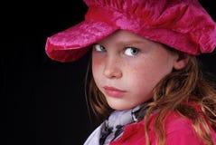 Menina no chapéu de veludo fotografia de stock