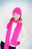 Menina no chapéu e no lenço brilhantes fotos de stock royalty free
