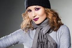 Menina no chapéu Imagens de Stock Royalty Free