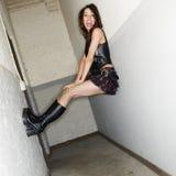 Menina no corredor. imagem de stock royalty free