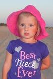 Menina no deserto Imagem de Stock Royalty Free