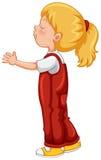 Menina no equipamento total vermelho ilustração royalty free