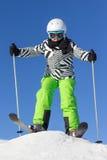 Menina no esqui Foto de Stock Royalty Free