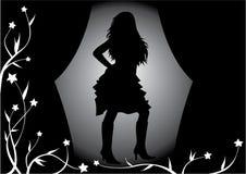 Menina no estágio, ilustração ilustração royalty free