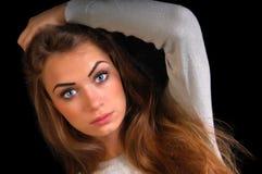Menina no estúdio Imagem de Stock Royalty Free
