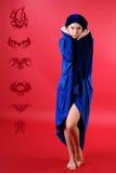 A menina no estúdio Fotos de Stock Royalty Free