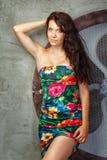 Menina no estúdio Imagem de Stock