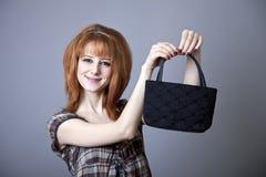 Menina no estilo 50s-60s americano. Imagens de Stock