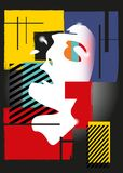 A menina no estilo de um cubismo Imagem de Stock Royalty Free