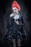 Menina no estilo gótico. Imagens de Stock Royalty Free