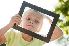 Menina no frame Imagem de Stock Royalty Free
