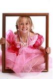 Menina no frame de retrato. Fotografia de Stock Royalty Free