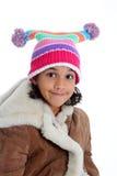 Menina no fundo branco Fotos de Stock Royalty Free