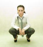 Menina no fundo branco Foto de Stock