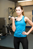 Menina no gym fotografia de stock
