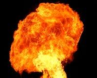 Menina no incêndio Fotografia de Stock Royalty Free