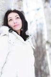 Menina no inverno Imagens de Stock