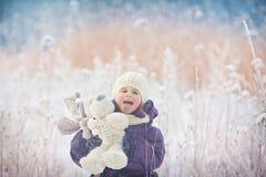 Menina no inverno Imagem de Stock
