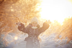 Menina no inverno Fotos de Stock