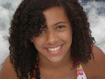 Menina no Jacuzzi Fotografia de Stock Royalty Free