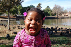 Menina no lago 2 imagem de stock royalty free