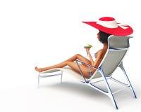 Menina no lounge2 Imagem de Stock Royalty Free
