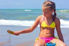 Menina no mar. Imagem de Stock Royalty Free