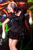 Menina no mini vestido foto de stock royalty free