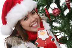Menina no Natal Imagem de Stock Royalty Free