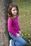Menina no parque Fotos de Stock Royalty Free