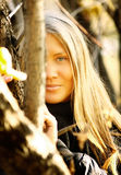 Menina no parque #2 do outono Imagens de Stock Royalty Free