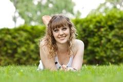 A menina no parque Fotografia de Stock