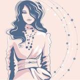 Menina no penteado na moda ilustração stock