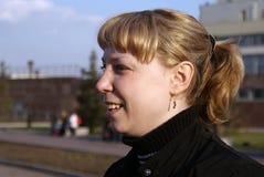 Menina no perfil Fotografia de Stock