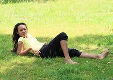 Menina no prado Imagem de Stock Royalty Free