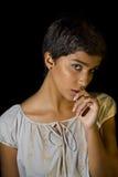 Menina no preto 3 Imagem de Stock Royalty Free