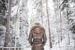 Menina no revestimento do inverno Imagens de Stock Royalty Free