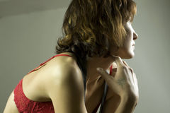 Menina no roupa interior Imagem de Stock