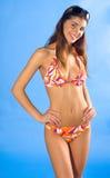 Menina no sorriso do swimsuit Fotografia de Stock