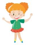 Menina no sorriso verde da camisa Imagens de Stock
