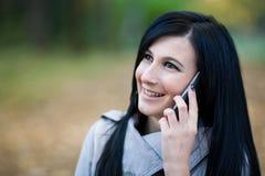 Menina no telefone Fotos de Stock