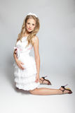 Menina no traje de cinderella Imagens de Stock Royalty Free