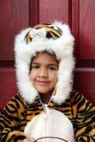 Menina no traje de Halloween Imagens de Stock