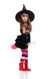 Menina no traje de Halloween Foto de Stock