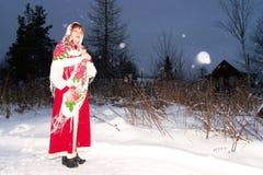Menina no traje do nacional do russo Imagens de Stock