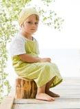 Menina no verde Imagens de Stock Royalty Free