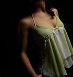 Menina no verde Foto de Stock Royalty Free