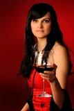 Menina no vermelho Imagens de Stock Royalty Free